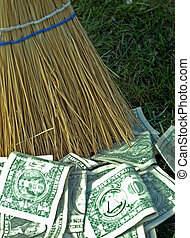 Sweeping up money - sweeping up money