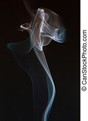 Swirling smoke from the incense on a homogeneous background...