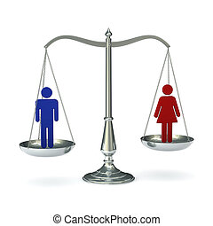 Scales man and woman