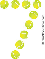 Tennis Ball Number 7 - Tennis Ball Concept Number 7