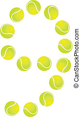 Tennis Ball Number 9 - Tennis Ball Concept Number 9