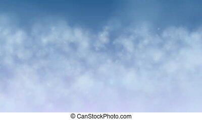 Flying through clouds loop - Flying through clouds animation...