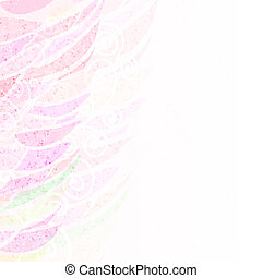 Abstract pink floral background pattern left - Abstract...
