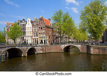 bridges of canal ring, Amsterdam, Netherlands