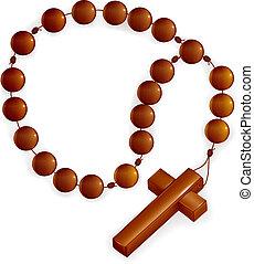 rosário, crucifixos, vetorial
