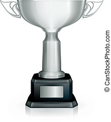 Silver Racing trophy, vector
