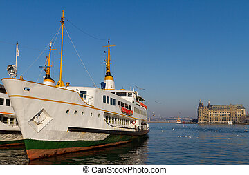 Ferry and Haydarpasa Train Station