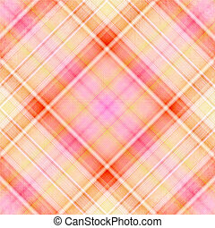 beige, pink, white and orange plaid pattern