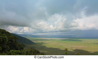 ngorongoro crater tanzania - view of the ngorongoro crater...