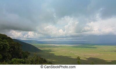 ngorongoro crater tanzania - view of the ngorongoro crater...