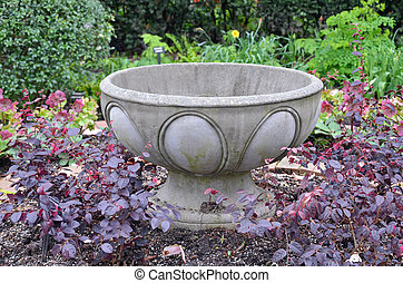 Empty flower planter - Empty stone planter waiting for...