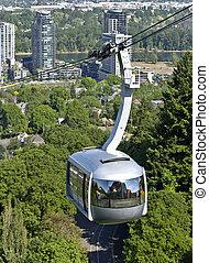 ou,  Portland, aérien,  tram