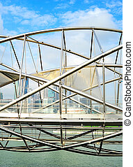 The Helix Bridge in Singapore - The Helix Bridge ,...