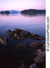 clarke island, broken group islands, vancouver island, bc,...