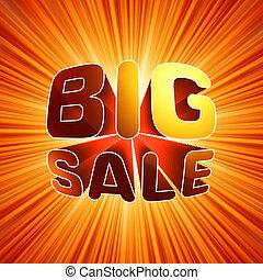 Big sale burst message. EPS 8