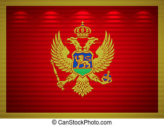 Montenegro flag wall, abstract background