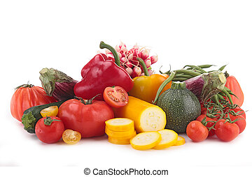isolated heap of vegetables