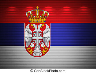 Serbia flag wall, abstract background