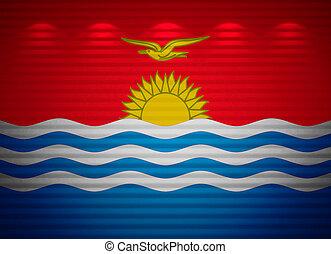 Kiribati flag wall, abstract background