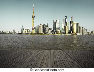 Shanghai bund landmark skyline urban buildings landscape