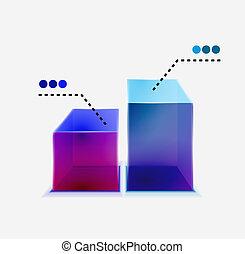 Vector 3d glass graph