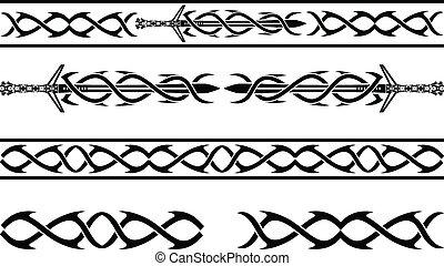 fantasy vikings pattern. stencil. vector illustration