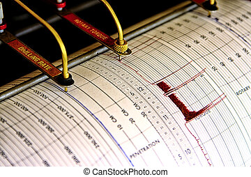 Seismograph for drilling - Two pen seismograph for drilling...