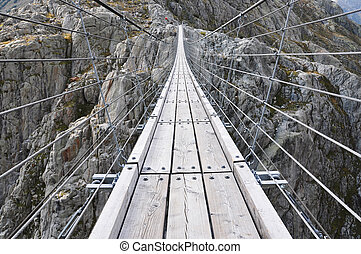 Trift Bridge, the longest 170m pedestrian-only suspension...