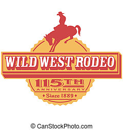Retro Vintage Rodeo Sign Clip Art - Retro or vintage western...