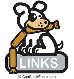 Website Navigation Button Icon Dog