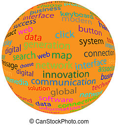 sphere 120513 - Abstract sphere with different words for...