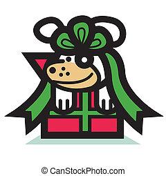 Dog christmas holiday cli