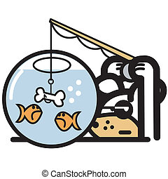 Funny Pet Shop Logo Cartoon Art