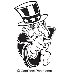 Uncle Sam 4th Of July Clip Art - Uncle Sam 4th of July or...