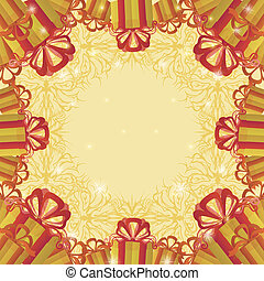 Holiday background with gift boxes