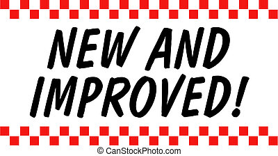 New And Improved Sign Clip Art - New and improved sales or...