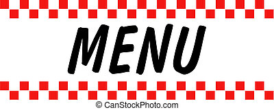 Menu Sign Retro Vintage Clip Art