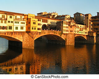 Ponte Vechio in Florence, Italy.