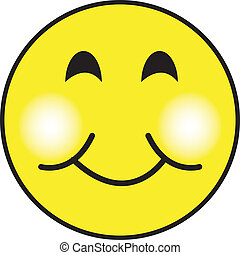 Smiley Happy Face Clip Art - Smiley or happy face clip art...