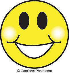 Smiley Happy Face Clip Art - Smiley or happy face clip art...