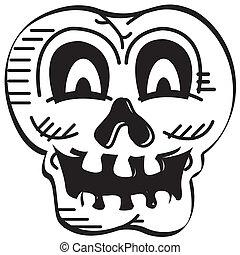 Halloween Skull Skeleton Line Art