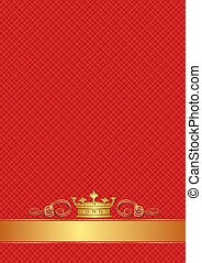 red background with golden crown
