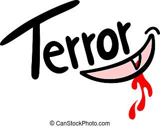 Sticker terror - Creative design of sticker terror