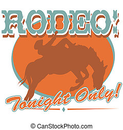 Rodeo Western Cowboy Sign Clip Art - Rodeo or western cowboy...