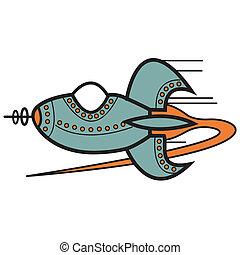 Rocket Spaceship Clip Art - Rocket or spaceship clip art in...