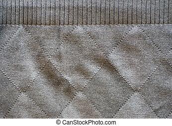 worn old knitted woollen rhomb line background - worn old...
