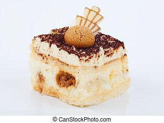 self-made italian tiramisu dessert