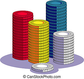 Poker Chip Or Gambling Clip Art - Poker chip or gambling...