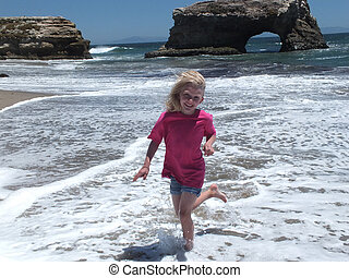 Natural Bridges State Beach and Bree