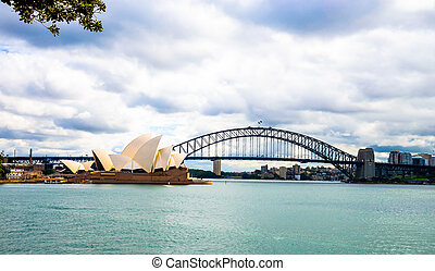 Opera house and Harbour bridge in Sydney Australia6